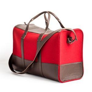 Knoll Weekender Bag in Red Wool Felt